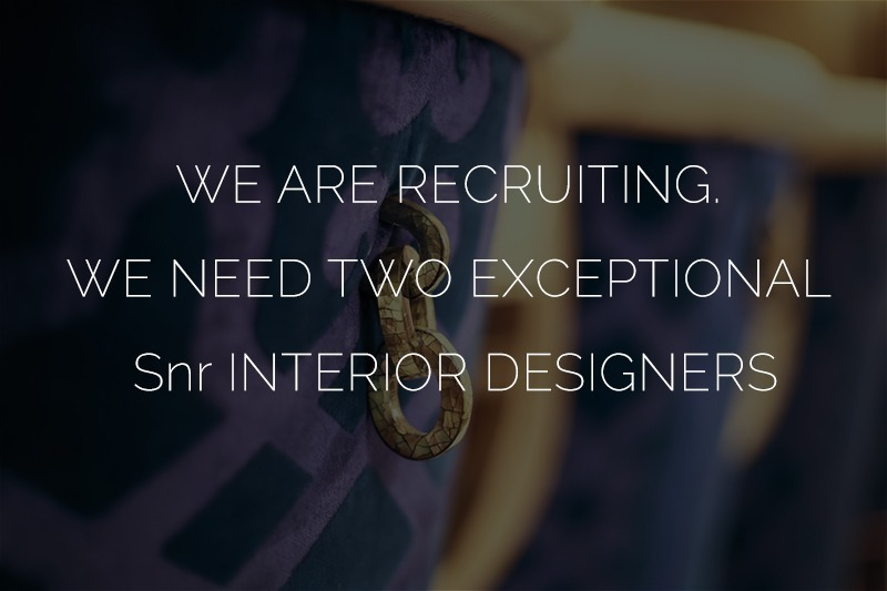 2 senior Interior Designers required