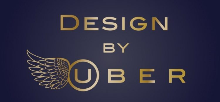 Brass on blue Design by UBER logo