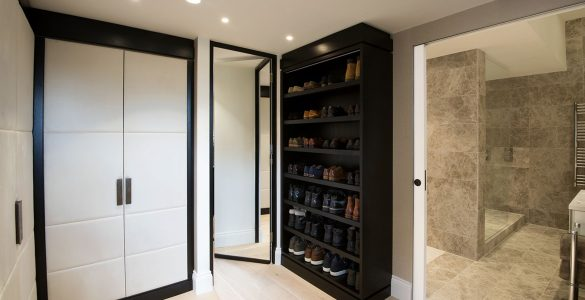 Gents wardrobe secret door open