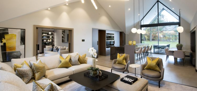 Contemporary super prime home Ribble Valley, UK - informal lounge
